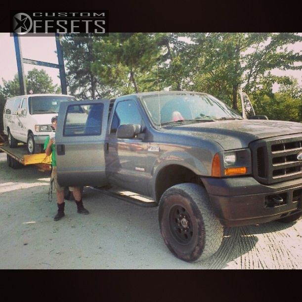 2002 Ford F250 Super Duty Crew Cab Interior: Wheel Offset 2005 Ford F 250 Super Duty Aggressive 1