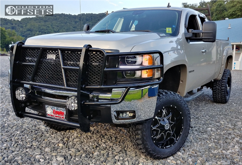 12 2008 Silverado 2500 Hd Chevrolet Superlift Suspension Lift 6in Scorpion Sc 10 Machined Black