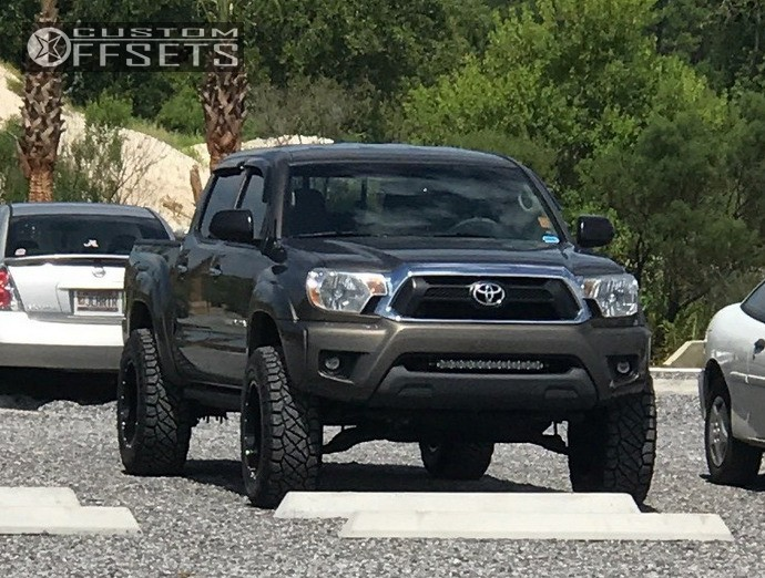 2012 toyota tacoma moto metal mo970 pro comp suspension lift 3in