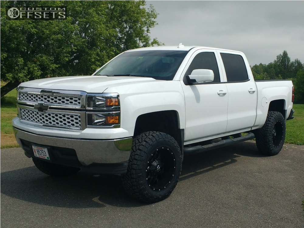 2014 chevy silverado lifted black the image kid has it. Black Bedroom Furniture Sets. Home Design Ideas