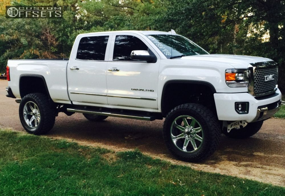 1 2015 Sierra 2500 Hd Gmc Suspension Lift 75 Xd Xd823 Chrome Super Aggressive 3 5