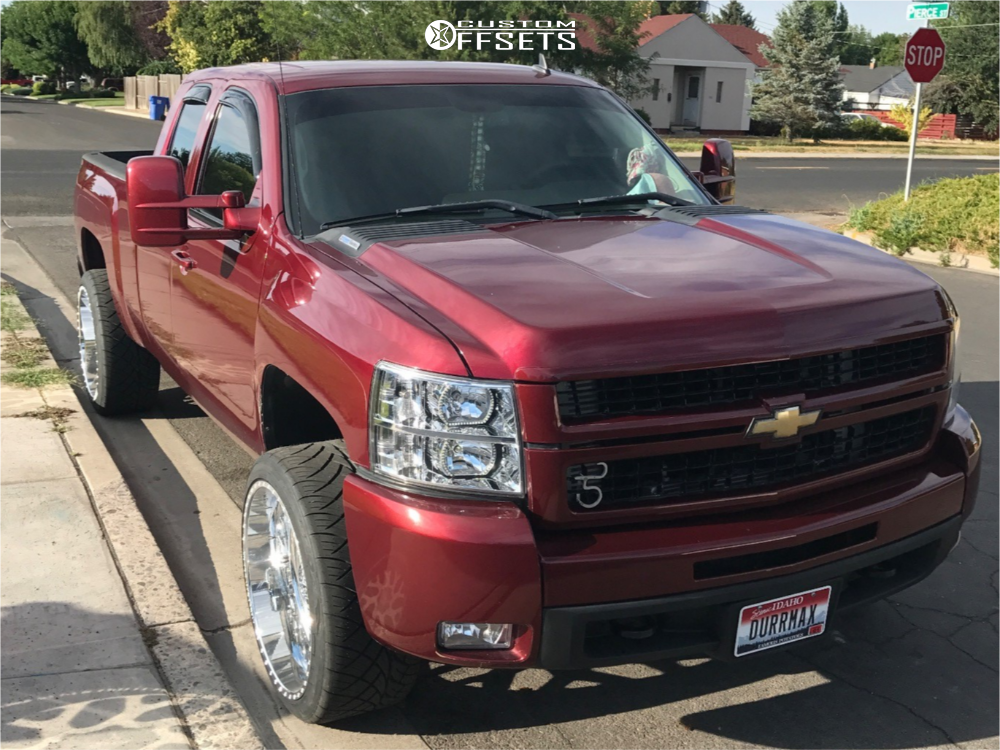 1 2008 Silverado 2500 Hd Chevrolet Stock Level 2in Drop Rear American Force Lucky Ss Polished