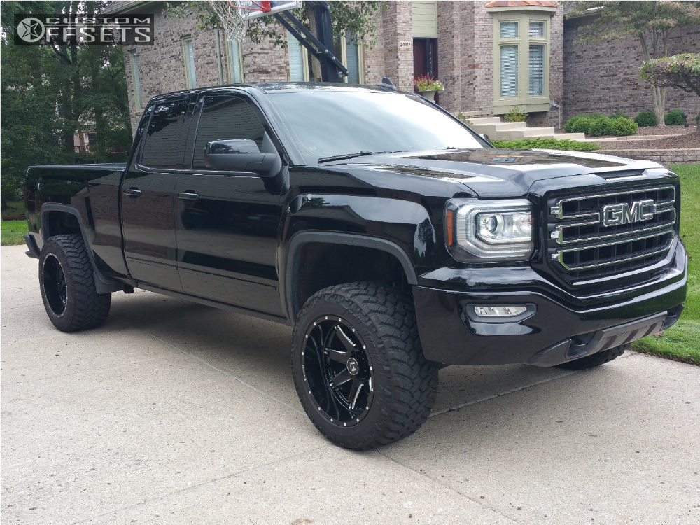 4 2016 Sierra 1500 Gmc Motofab Leveling Kit Hostile Alpha Machined Accents