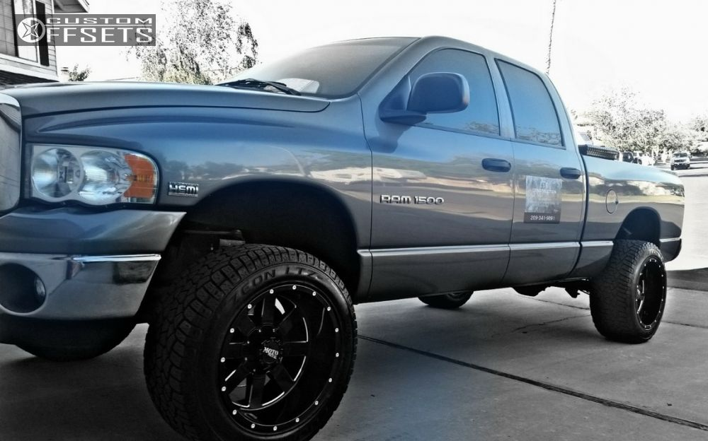 1 2005 Ram 1500 Dodge Suspension Lift 6 Moto Metal 929 Black Super Aggressive 3 5