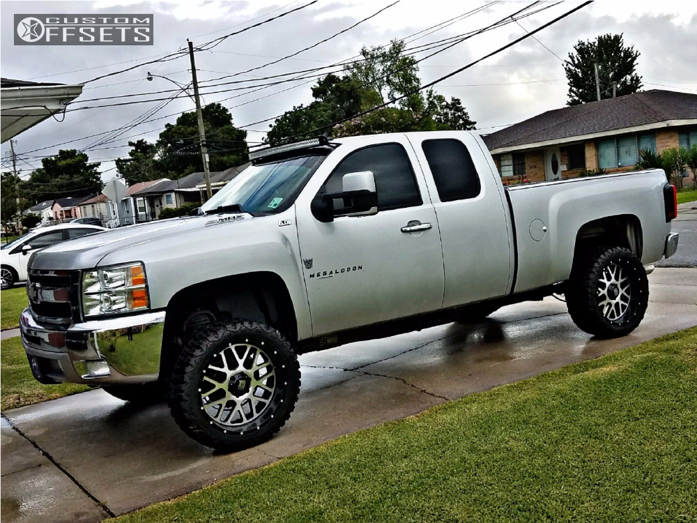 2012 chevrolet silverado 1500 xd xd820 rough country leveling kit body lift. Black Bedroom Furniture Sets. Home Design Ideas