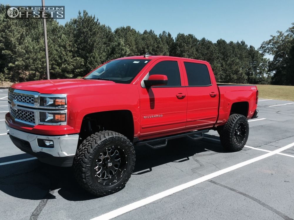 2015 Lifted Silverado >> Wheel Offset 2015 Chevrolet Silverado 1500 Aggressive 1 Outside