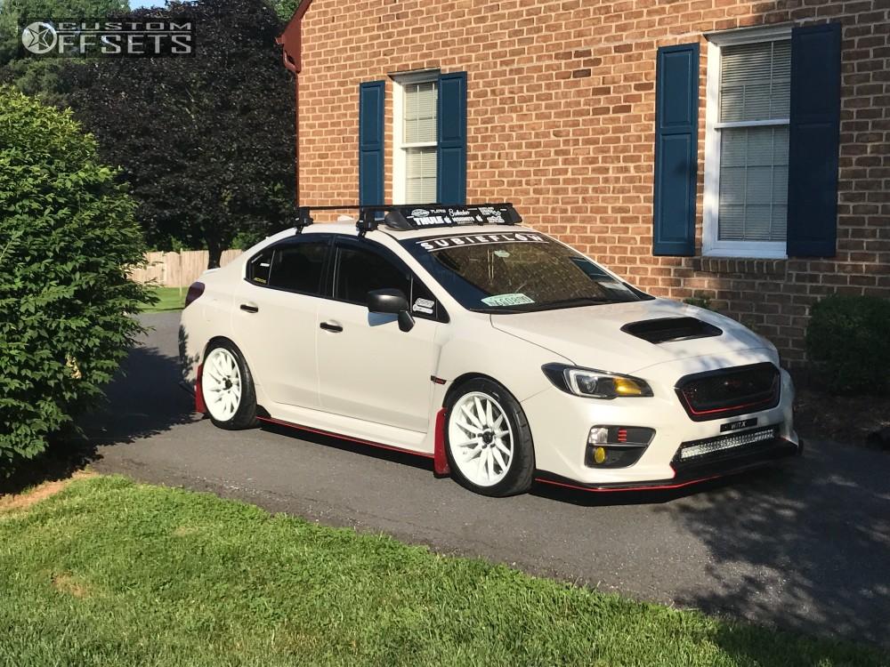 2016 Subaru Wrx Cosmis R1 Bc Racing Coilovers   Custom Offsets
