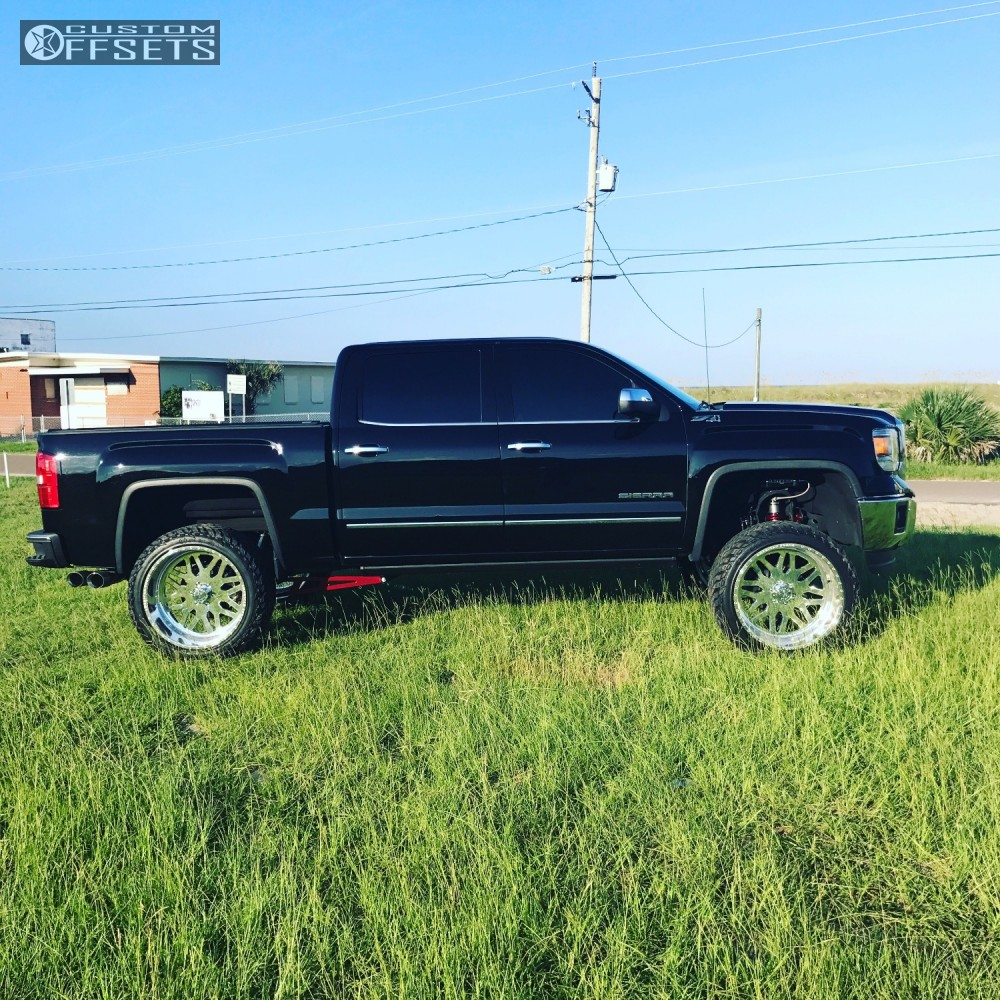 10 2014 Sierra 1500 Gmc Fabtech Suspension Lift 6in American Force Trax Ss Polished