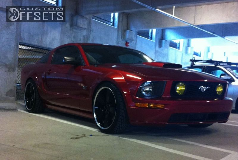 Wheel Offset 2007 Ford Mustang Slightly Aggressive Dropped 1 3