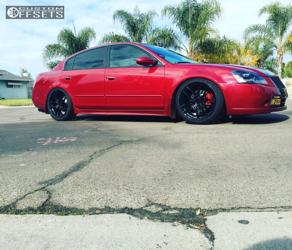 wheel offset 2006 nissan altima tucked coilovers custom offsets
