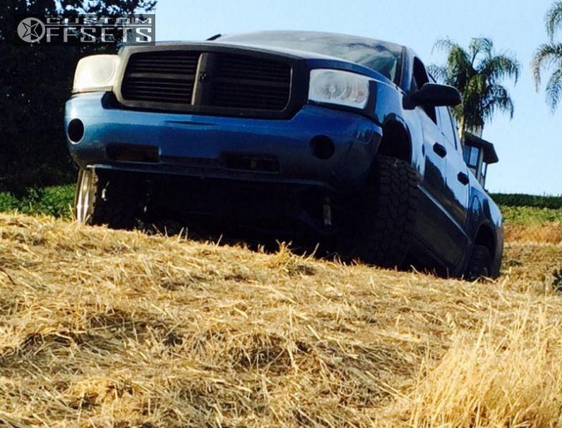 10 2007 Dakota Dodge Suspension Lift 3 Pro Comp 1606 Chrome Aggressive 1 Outside Fender