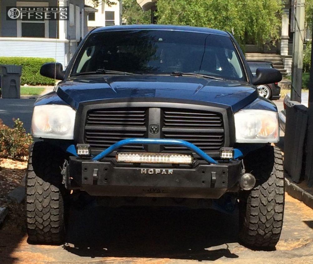11 2007 dakota dodge suspension lift 3 pro comp 1606 chrome aggressive 1 outside fender