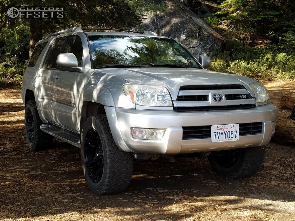 1 2004 4runner Toyota Rough Country Suspension Lift 3in Fuel Vapor Black ...