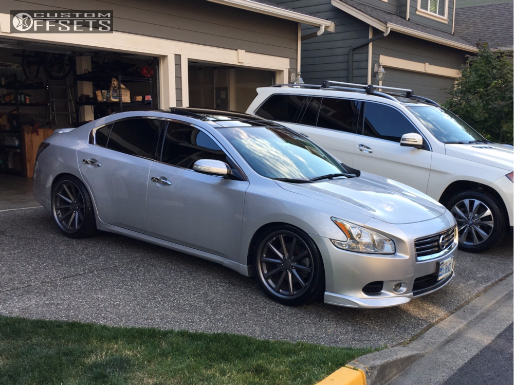 wheel offset 2011 nissan maxima nearly flush coilovers. Black Bedroom Furniture Sets. Home Design Ideas