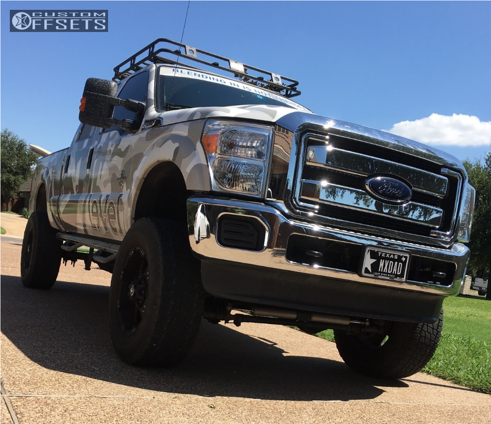 2014 Ford F 350 Super Duty Ballistic Anvil Rough Country Suspension 1 Lift 6in Black