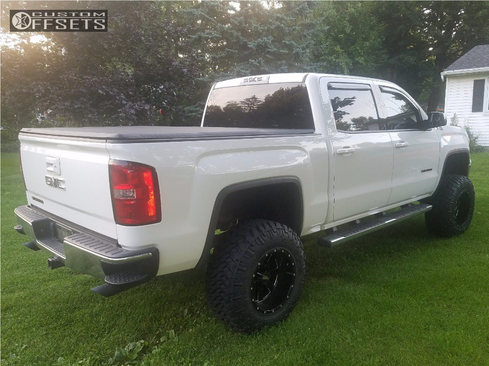 4 2014 Sierra 1500 Gmc Rough Country Suspension Lift 75in Moto Metal Mo962 Machined Accents