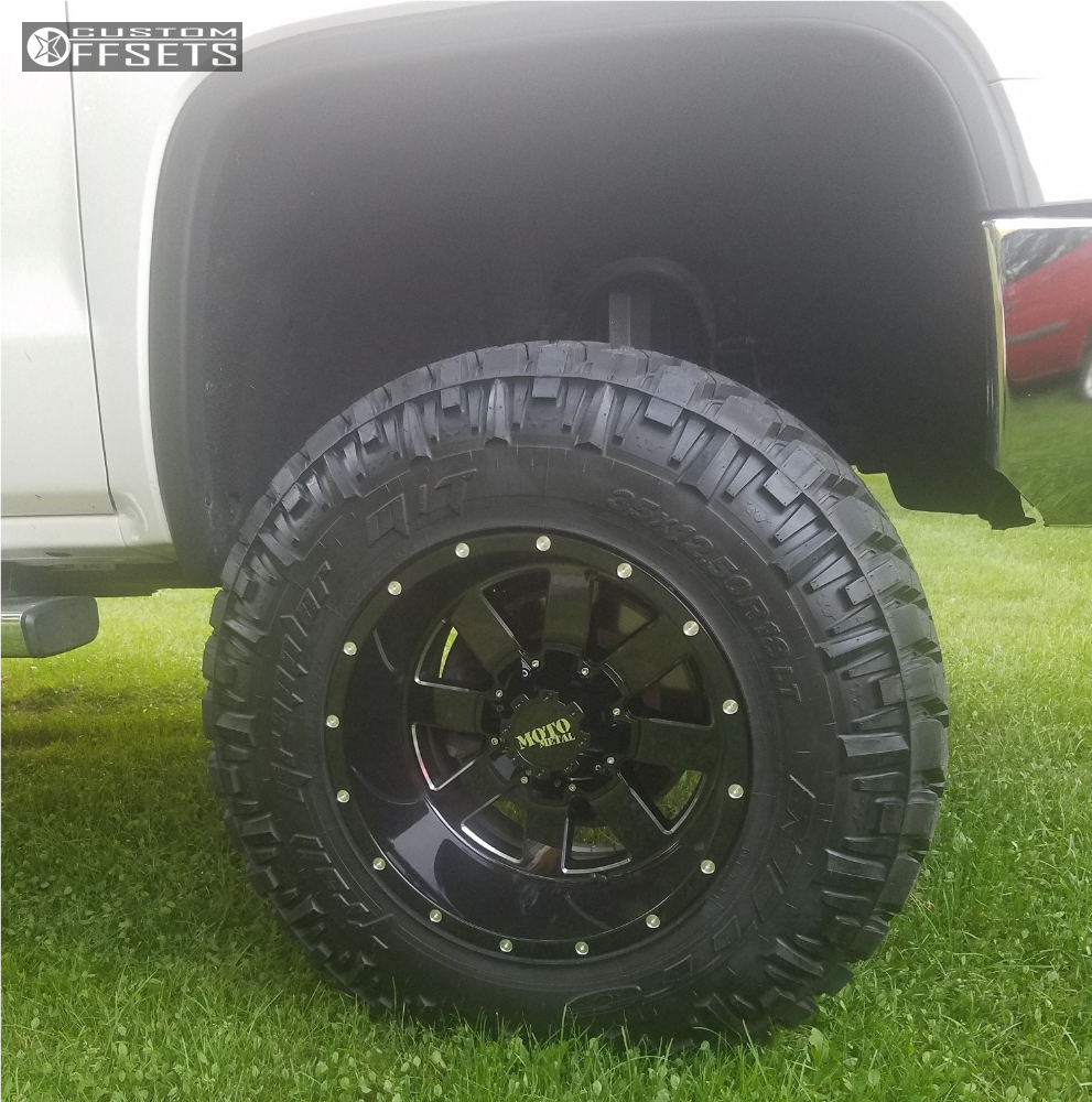 8 2014 Sierra 1500 Gmc Rough Country Suspension Lift 75in Moto Metal Mo962 Machined Accents