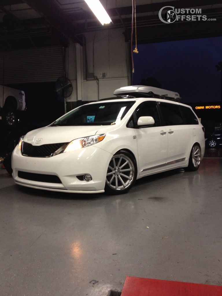 wheel offset 2011 toyota sienna tucked dropped 3 custom rims