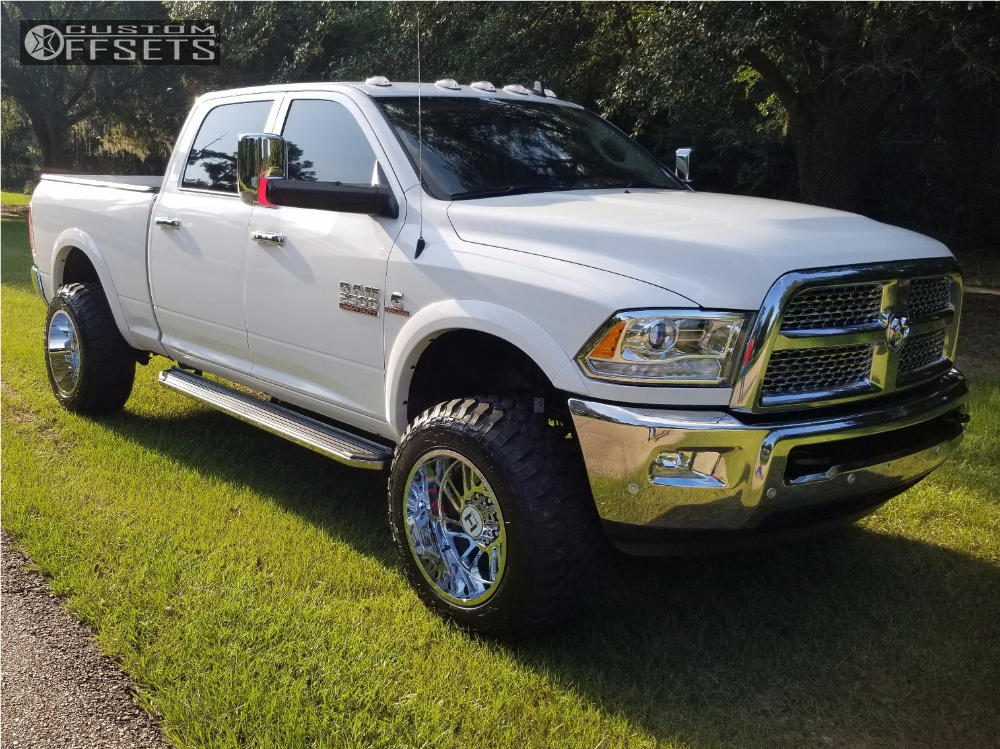 1 2017 2500 Ram Rough Country Leveling Kit Hostile Stryker Chrome