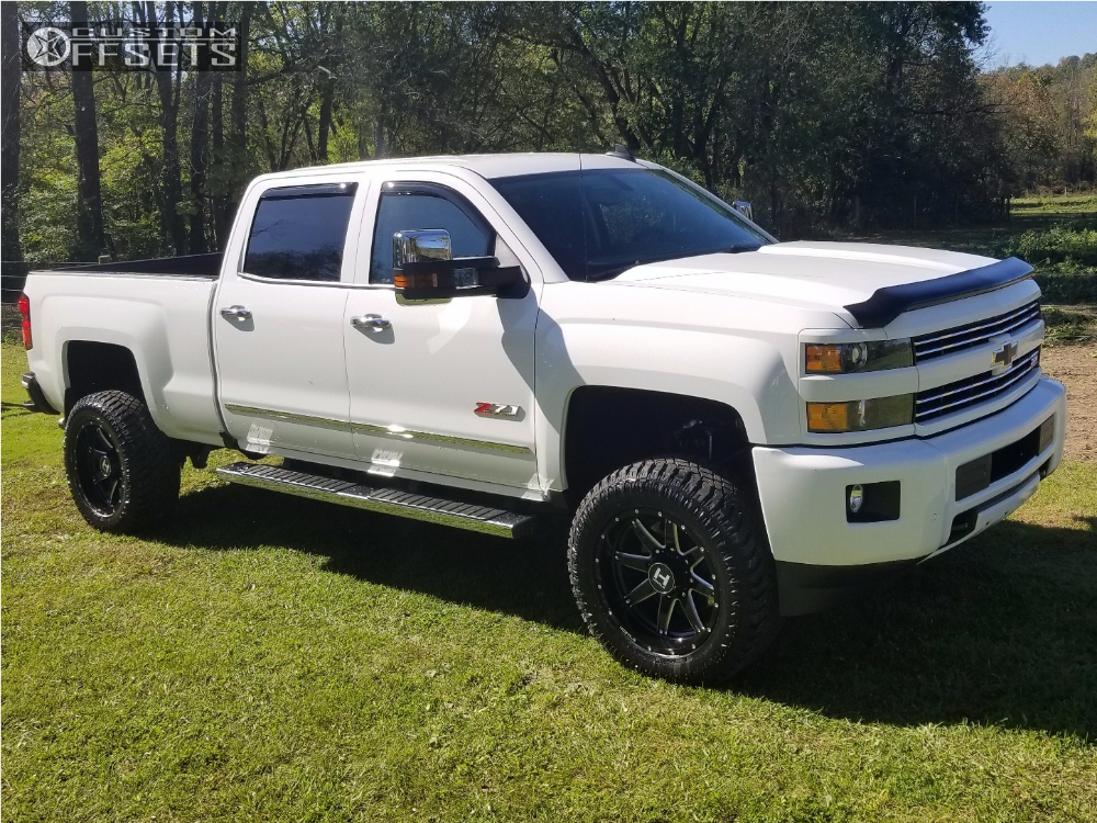 1 2017 Silverado 2500 Hd Chevrolet Rough Country Suspension Lift 35in Hostile Alpha White