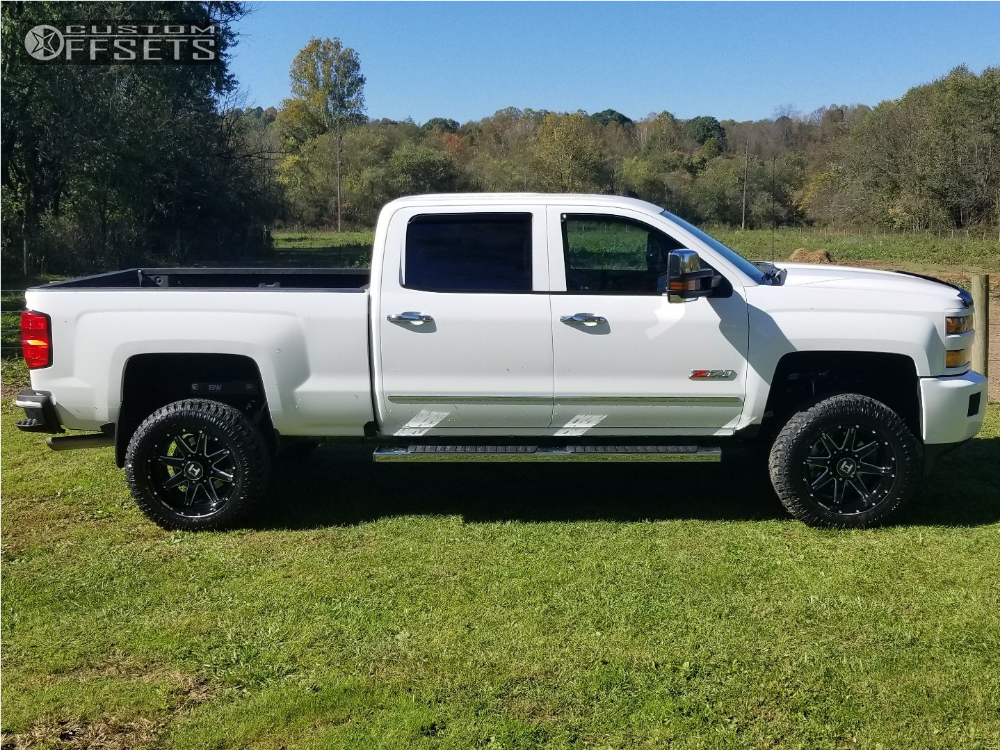 12 2017 Silverado 2500 Hd Chevrolet Rough Country Suspension Lift 35in Hostile Alpha White