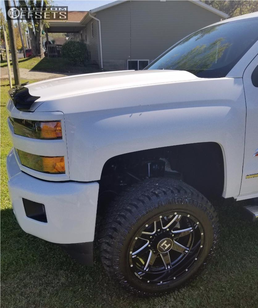 2 2017 Silverado 2500 Hd Chevrolet Rough Country Suspension Lift 35in Hostile Alpha White