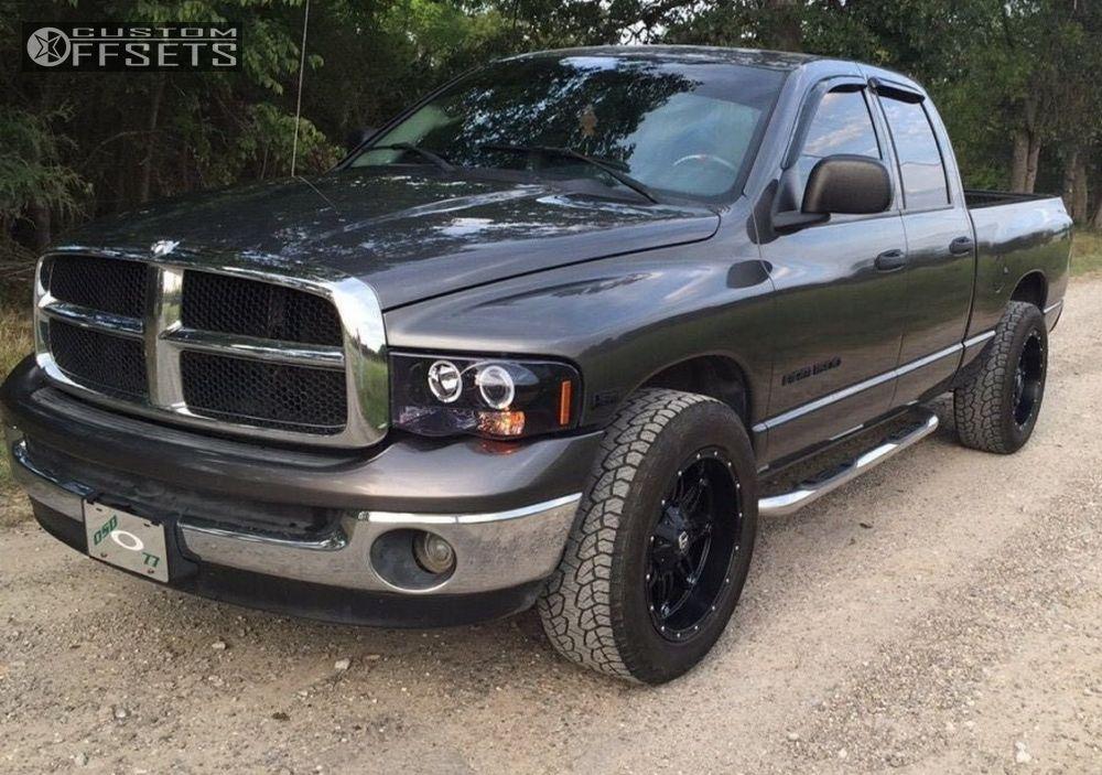 1 2004 Ram 1500 Dodge Leveling Kit Fuel Hostages Black Super Aggressive 3 5
