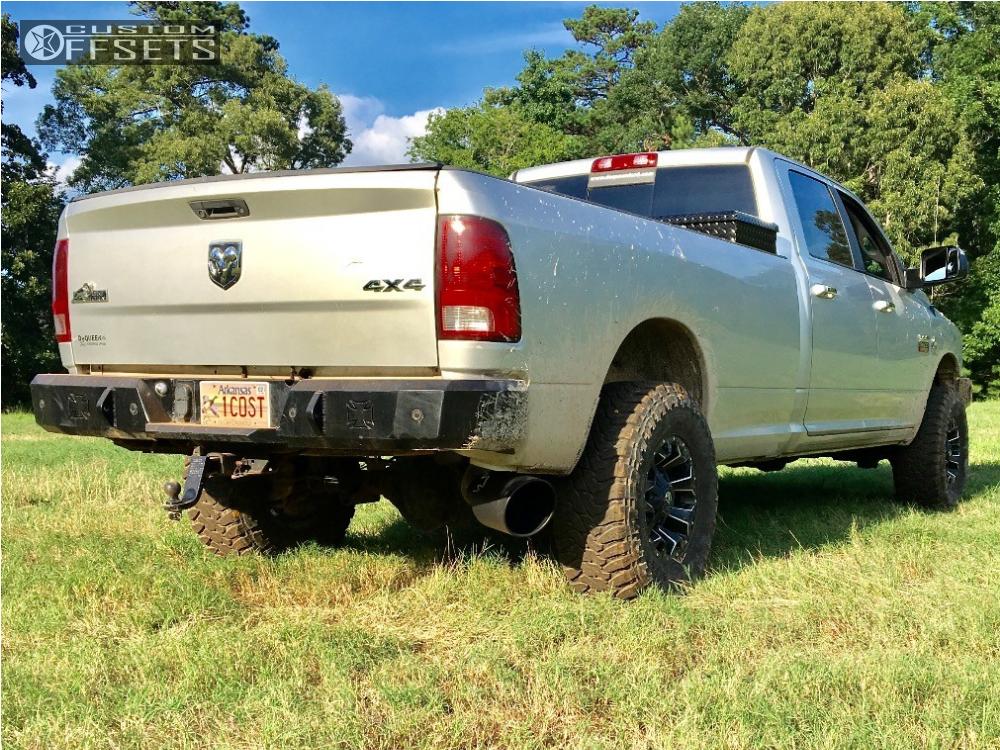 3 2012 Ram 3500 Dodge Rough Country Leveling Kit Fuel Assault Matte Black