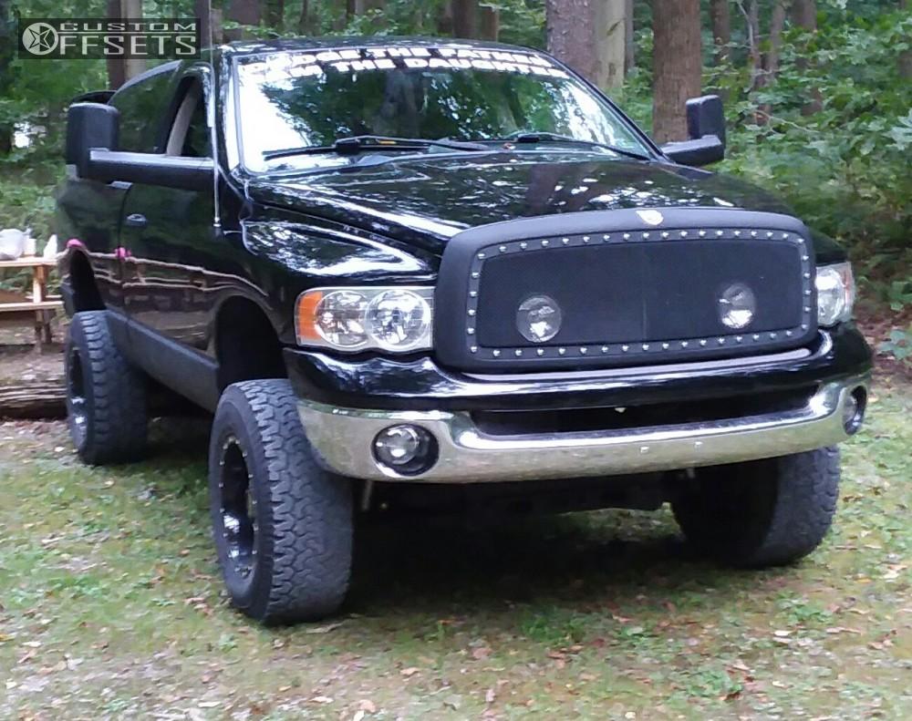 1 2003 Ram 1500 Dodge Rough Country Suspension Lift 5in Moto Metal Mo962 Black