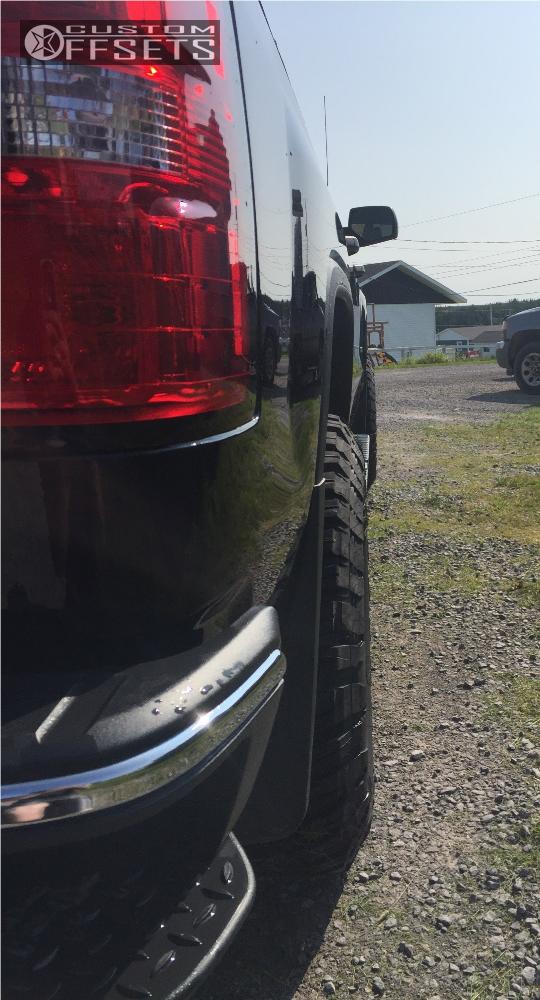 3 2017 Sierra 1500 Gmc Rough Country Leveling Kit Fuel Assault Matte Black