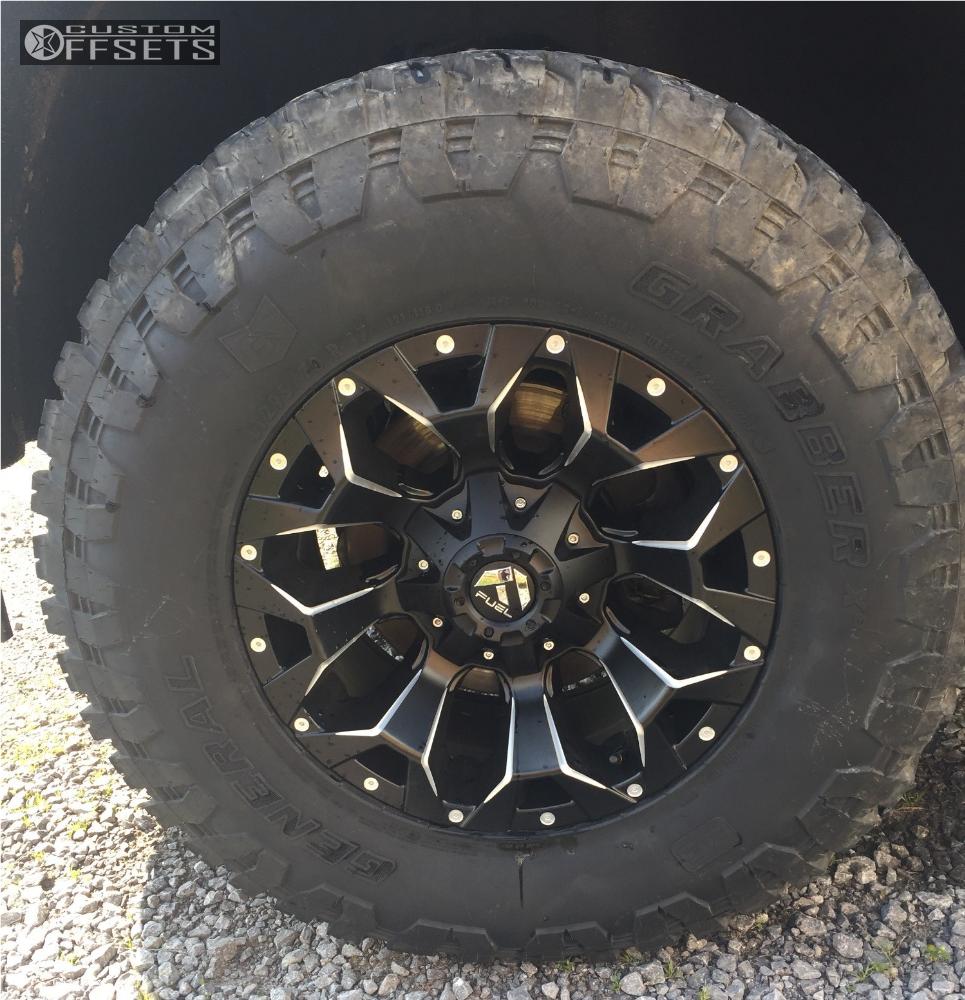 8 2017 Sierra 1500 Gmc Rough Country Leveling Kit Fuel Assault Matte Black