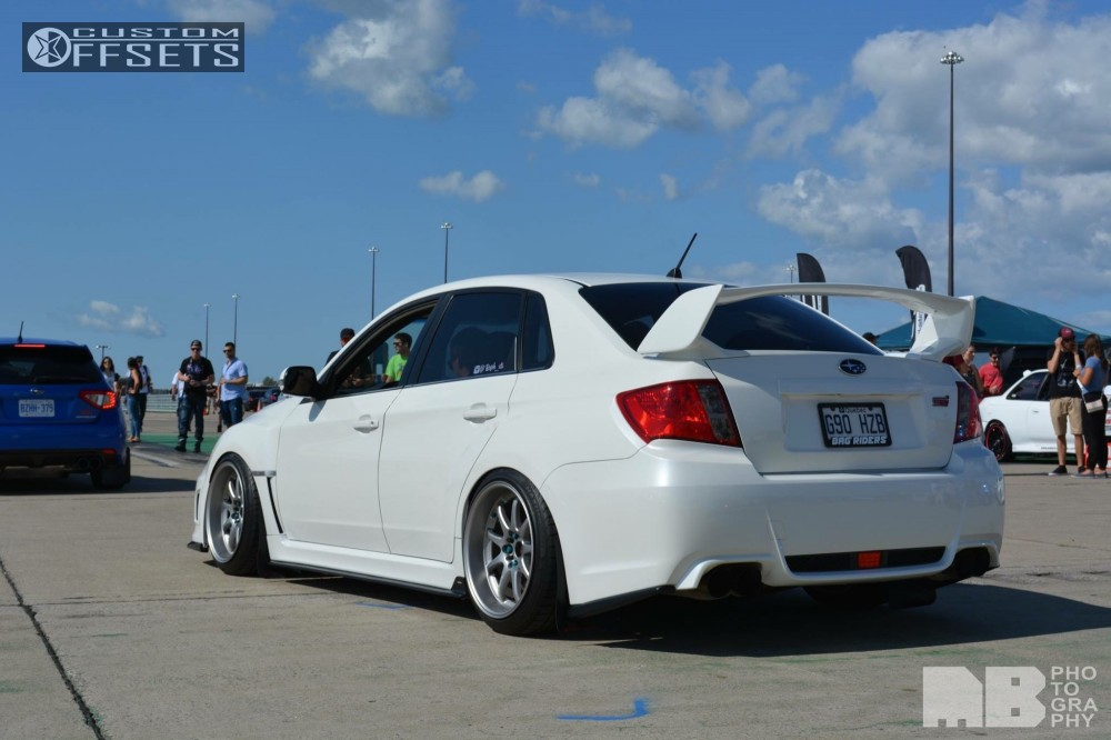 2012 subaru wrx sti work xd9 airdynamiks air suspension. Black Bedroom Furniture Sets. Home Design Ideas