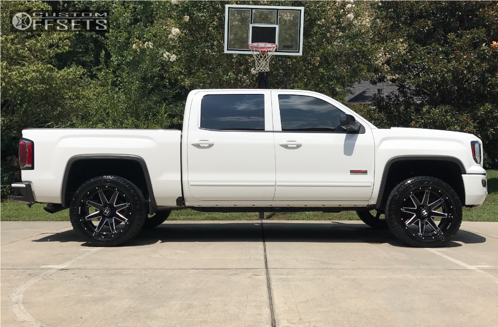 12 2017 Sierra 1500 Gmc Top Gun Customz Leveling Kit Hostile Alpha Black