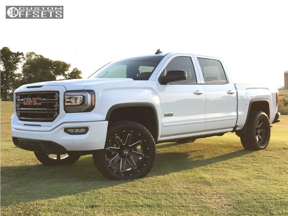 13 2017 Sierra 1500 Gmc Top Gun Customz Leveling Kit Hostile Alpha Black