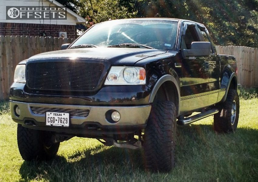 2 2006 F 150 Ford Suspension Lift 6 Moto Metal 962 Chrome Aggressive 1 Outside Fender