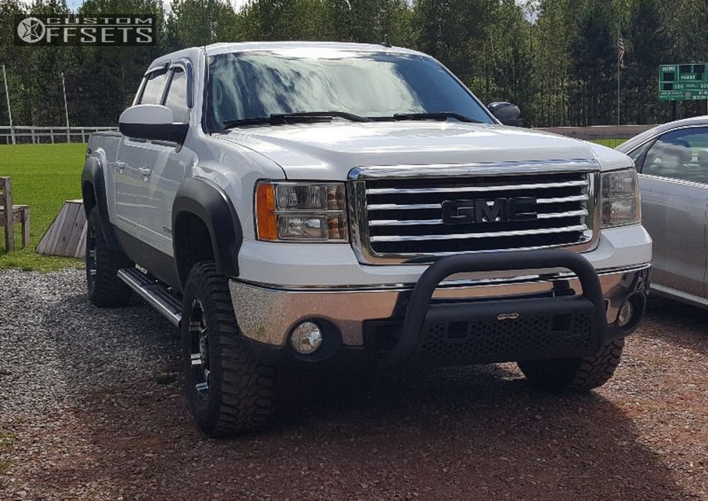 1 2007 Sierra 1500 Gmc Suspension Lift 35 Alloy Ion 6 Machined Accents Aggressive 1 Outside Fender