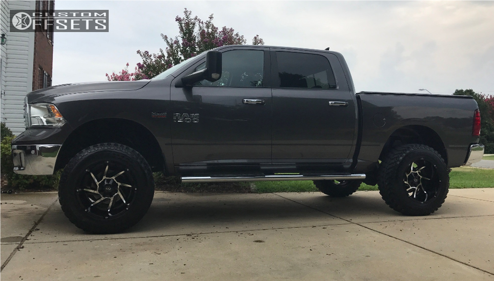 1 2014 1500 Ram Rough Country Suspension Lift 6in Vision Prowler Machined Black