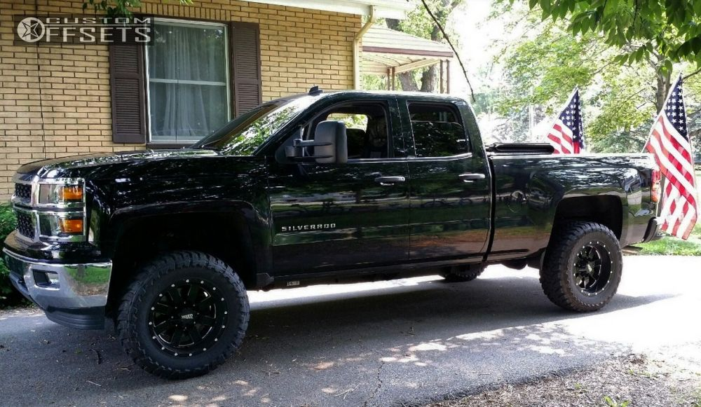 1 2014 Silverado 1500 Chevrolet Suspension Lift 5 Moto Metal 962 Black Aggressive 1 Outside Fender