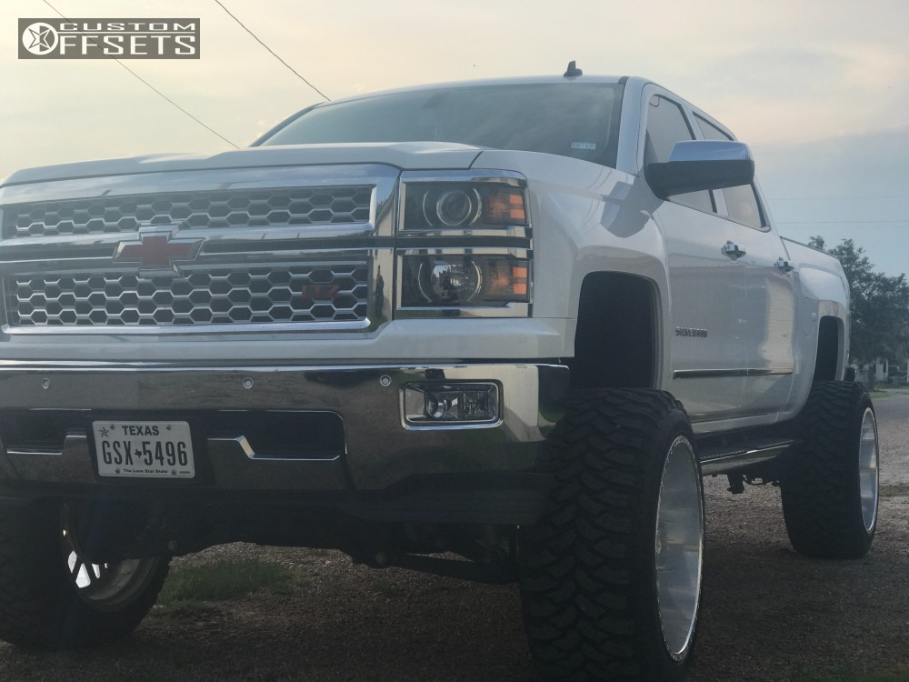 2 2014 Silverado 1500 Chevrolet Mcgaughys Suspension Lift 10in American Force Trax Ss Polished