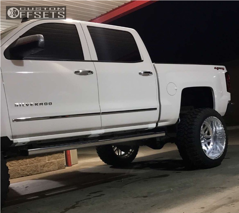 4 2014 Silverado 1500 Chevrolet Mcgaughys Suspension Lift 10in American Force Trax Ss Polished