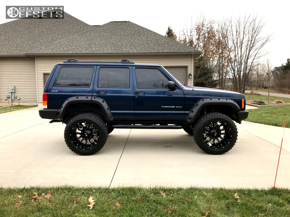 12 2001 Cherokee Jeep Rough Country Suspension Lift 45in Scorpion Sc17 Black