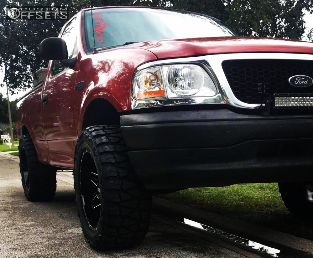 16 2000 F 150 Ford Rough Country Suspension Lift 3in Bold Bd001 Black