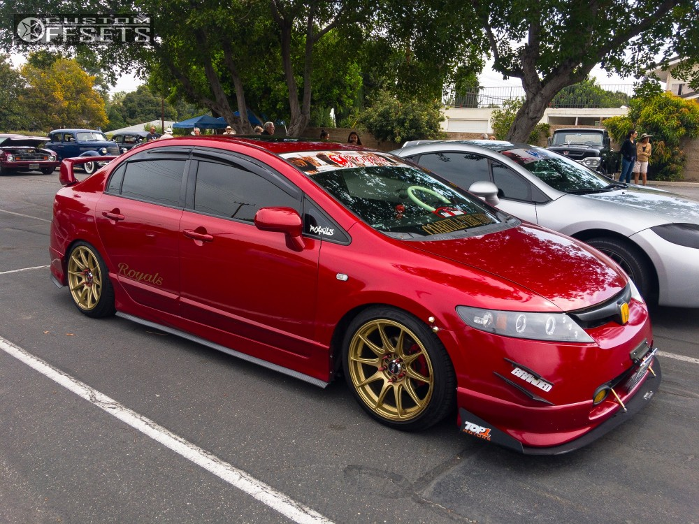 2008 honda civic xxr 527 megan racing coilovers for Gold honda civic