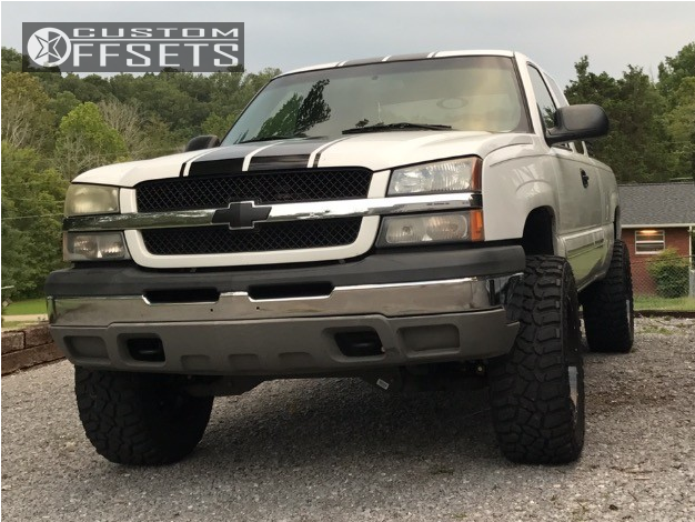 1 2004 Silverado 1500 Chevrolet Rough Country Suspension Lift 6in Tuff T15 Black