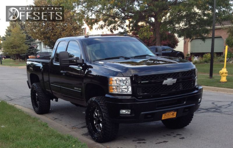 Wheel Offset 2011 Chevrolet Silverado 2500hd Aggressive 1 Outside