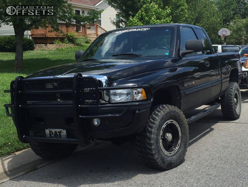 1 2000 Ram 1500 Dodge Leveling Kit Alloy Ion Style 133 Black Slightly Aggressive
