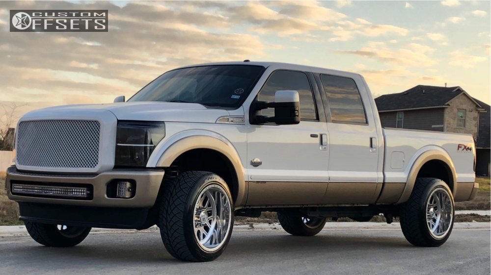 ford   super duty american force fallout fp stock stock custom offsets