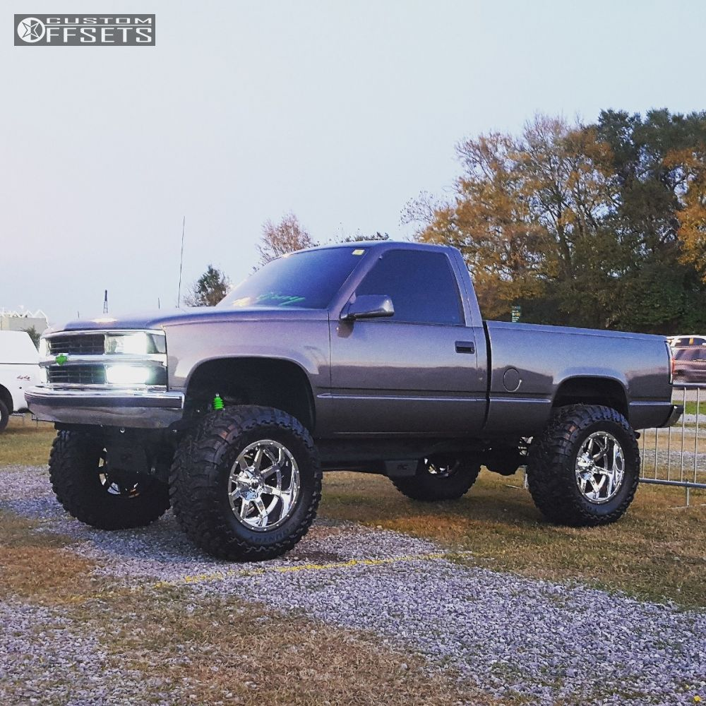 All Chevy 1995 chevy c1500 : Wheel Offset 1995 Chevrolet C1500 Super Aggressive 3 5 Suspension ...