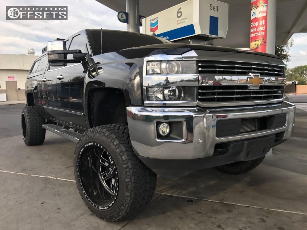 1 2015 Silverado 2500 Hd Chevrolet Full Throttle Suspension Lift 4in Fuel Forged Ff33 Machined Black