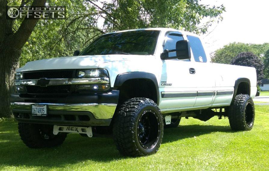 ... 1 2002 Silverado 2500 Hd Chevrolet Suspension Lift 6 Fuel Hostage Black  Hella Stance 5 ...